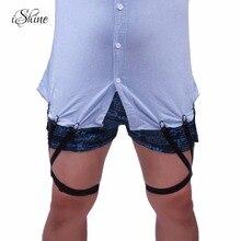 2017 Men and Women's Shirt Stays Unisex Adjustable Elastic Shirt Holders Crease-Resistance Belt Stirrup Style Shirt Suspenders