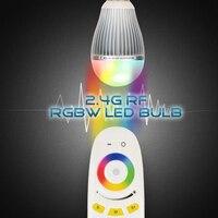 Ми свет Светодиодные лампы AC 110 В 220 В GU10 E14 E27 лампы 2.4 г Беспроводной Wi-Fi управления SMD 5730 светодиодные лампы 4 Вт 5 Вт 6 Вт 9 Вт RGBW rgbww пятно света