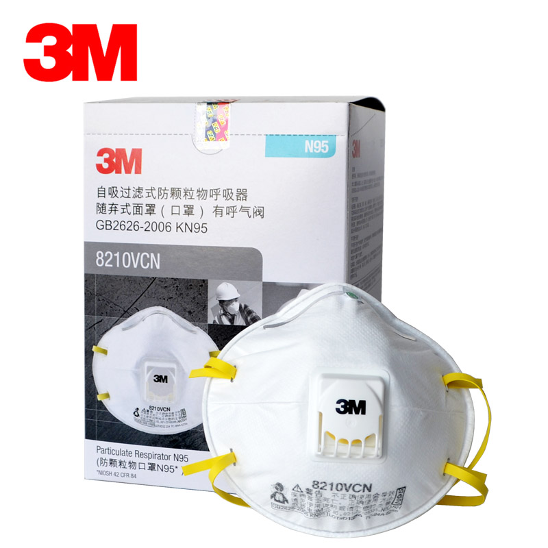 3M 8210V Respirator dust Mask Cool flow Valve Particles Mask PM2 5 N95 Respiratory Protection cycling