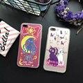3D рельеф матовый мультфильм Печати Sailor Moon cat pattern ПК жесткий чехол телефон case для iphone 5s SE 6 6 s S 7 плюс случаях shell
