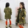 Moda Chaqueta para Niñas Zanja Niño Niños Ocasional ropa de Abrigo Chico Activo Abrigos Ropa Infantil Otoño capa de Polvo de la Ropa de Primavera