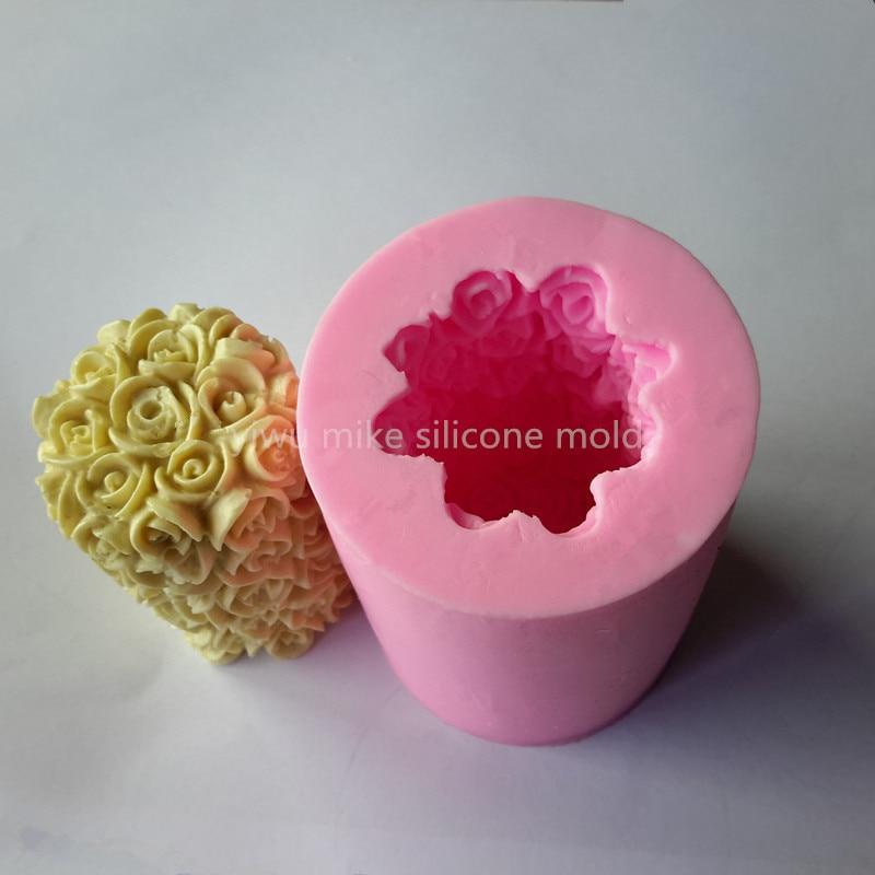 bake tool factory shop , rose design cake or soap silicone mold mk-890