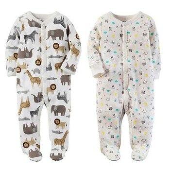 9a6a38908b Recién Nacido bebé niña ropa de niños 2019 mamelucos de bebé de manga larga  100% algodón cómodo pijamas de bebé de dibujos animados impreso