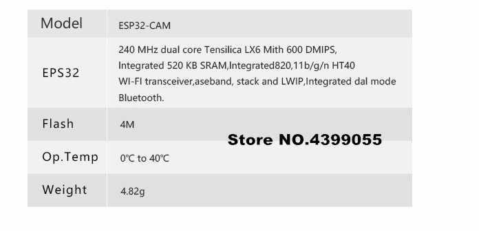 ESP32 CAM ESP32CAM Module OV2640 Caméra - AliExpress