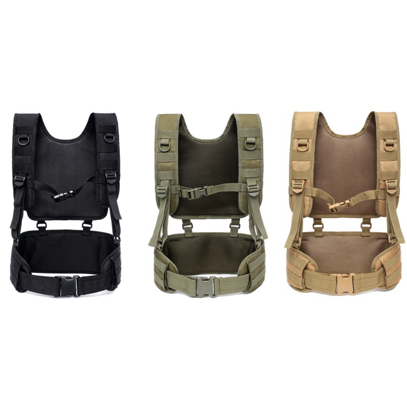 Detachable Suspender Straps Outdoor Training Tactical Padded Battle Belt Airsoft Combat Duty Belt With Comfortable Pads