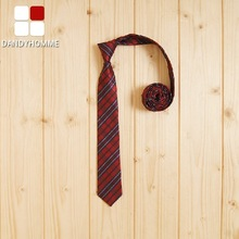 DANDY HOMME High Quality 2015 Men Red Retro Big Red Blue Plaid Wedding Groom Business Formal Suits Neck Ties Young Man Tie