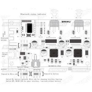 Image 2 - 2x6 w dc 5 v 3.7 v alto falante modificado estéreo bluetooth amplificador placa pode conectado bateria de lítio com gestão de carga A8 020