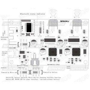 Image 2 - Amplificador estéreo Bluetooth modificado, 2x6W DC 5V 3,7 V, placa que puede conectar batería de litio con A8 020 de gestión de carga