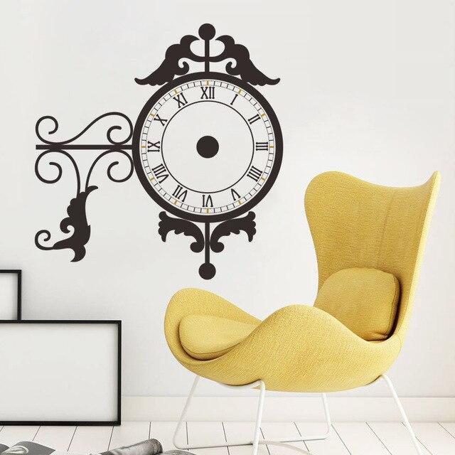 Flower Vine Decoration Wall Sticker Real Clock Watch D Living - Wall decals clock