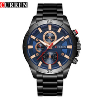 NEW CURREN Watches Men Top Brand Fashion Quartz Watch Male Relogio Masculino Male Army Military Sports
