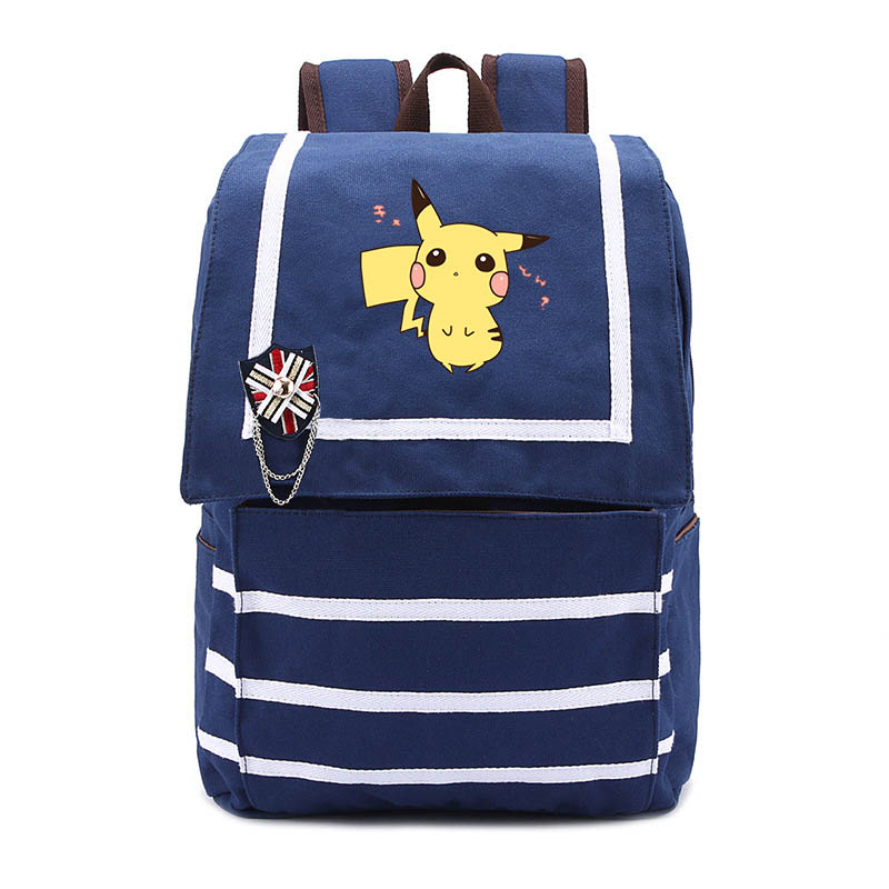 Anime Pokemon Backpack Pocket Monster School Bag Printing Backpacks for Girls Mochila School Bags canvas for Teenagers 2017 new arrival attack on titan backpack school shoulder bag anime printing backpack for teenagers mochila boys girls bags gift