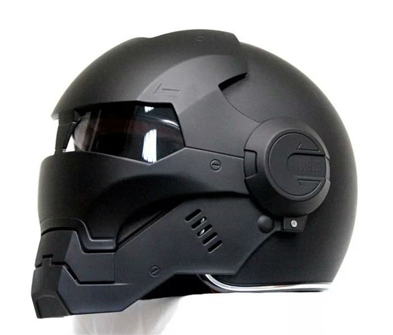 Cool Iron Man Motorcycle Helmet side view close face