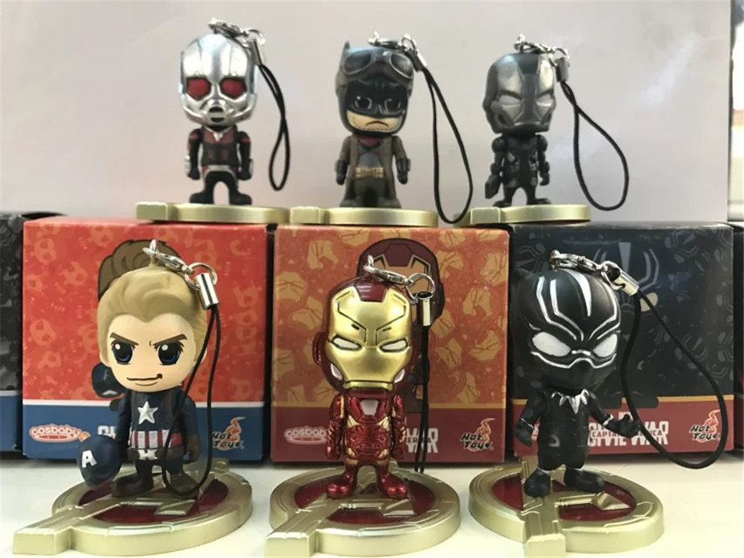 WVW 6pcs/Set Captain America Iron Man Black Panther Ant Man Play Arts Model PVC Toy Action Figure Decoration For Collection Gift new hot christmas gift 21inch 52cm bearbrick be rbrick fashion toy pvc action figure collectible model toy decoration