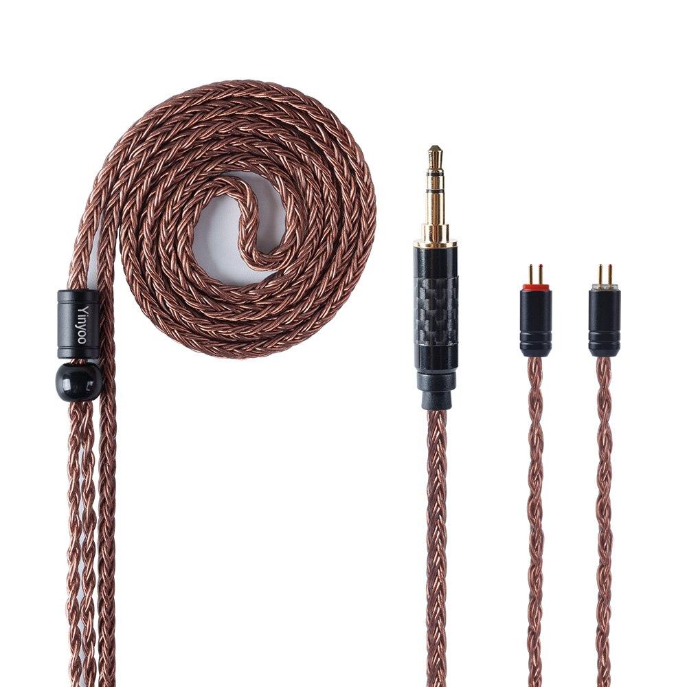Câble équilibré en cuivre monocristallin Yinyoo 16 Core Import 2.5/3.5mm/4.4m avec connecteur MMCX/2pin pour LZ A6 ZS10 AS10 AS16
