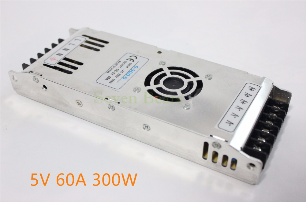 Special LED display power supply With EMC&Safety standards approved With Fan Ultra-thin 5V 60A 300W Switching Power Supply