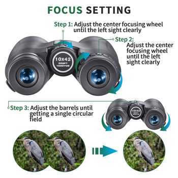 Asika 10x42 Binoculars High Quality Camping Hunting Scopes Telescopes Bak4 Prism Optics Waterproof Nitrogen Prismaticos De Caza