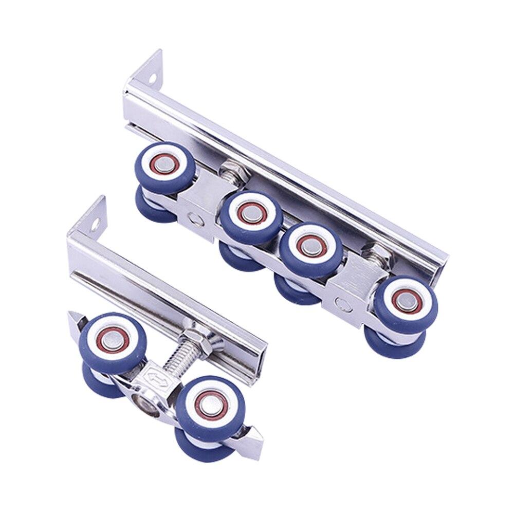 Blue zinc alloy 4 wheel Wardrobe Closet Cabinet Pulley Hardware Sliding  Door Rollers