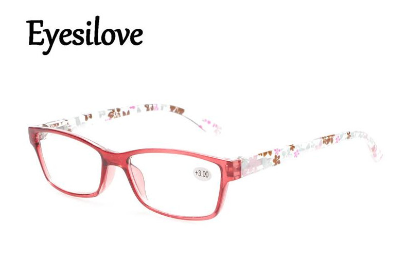 Eyesilove 10pcs/lot fashion plastic women reading glasses colorful presbyopia glasses lenses power +1.0 to +4.0