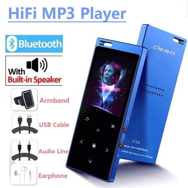 Bluetooth4.2 MP3 プレーヤースピーカー 1.8 インチ画面タッチボタン MP3 音楽プレーヤーサポート FM 、レコーダー、 SD/TF カードまで 128 ギガバイト