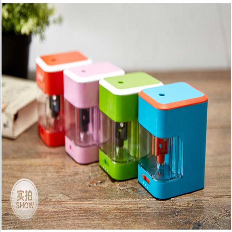 New 2016 Sharpener Electric Pencil Sharpener Usb + Batteries / Plug-in + BatteriesSupply Automatic Pencil Sharpener цена 2017