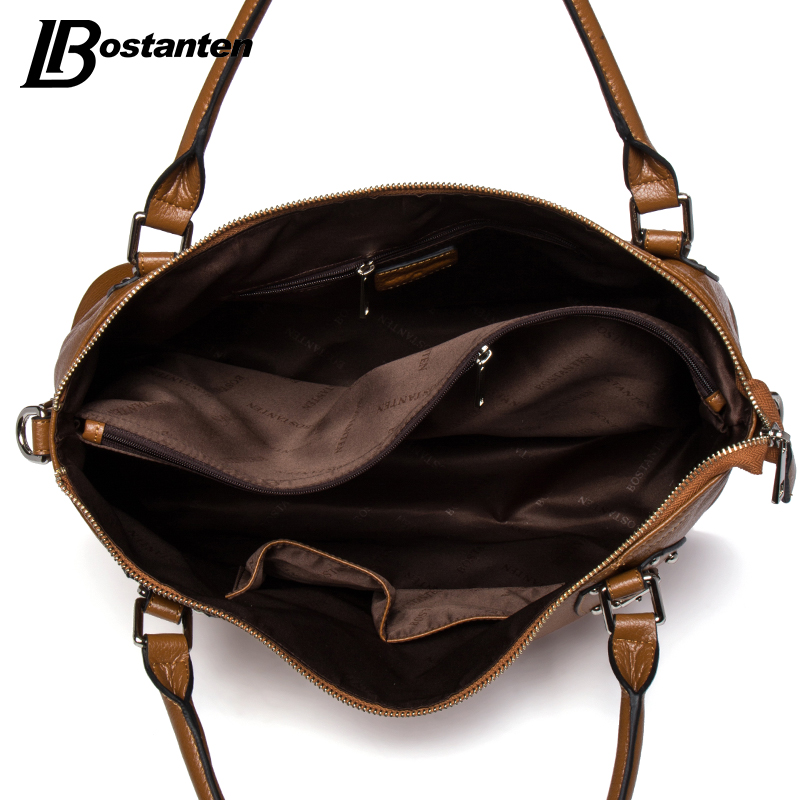 bostanten nova bolsa de couro Material Composição : Cow Genuine Leather+microfiber Synthetic Leather(bottom, handle, etc.)
