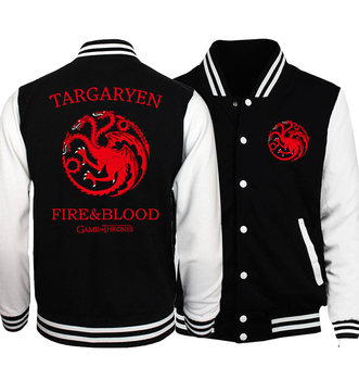 """Team Targaryen Fire Blood"" Baseball Jackets"