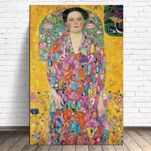 Klimtes  Eugenia's Portrait Canvas Poster Minimalist Art Painting Universe Wall Picture Print Living Room Bedroom Decor nordic minimalist cute animal children s room canvas painting art print poster picture wall living room bedroom home decor