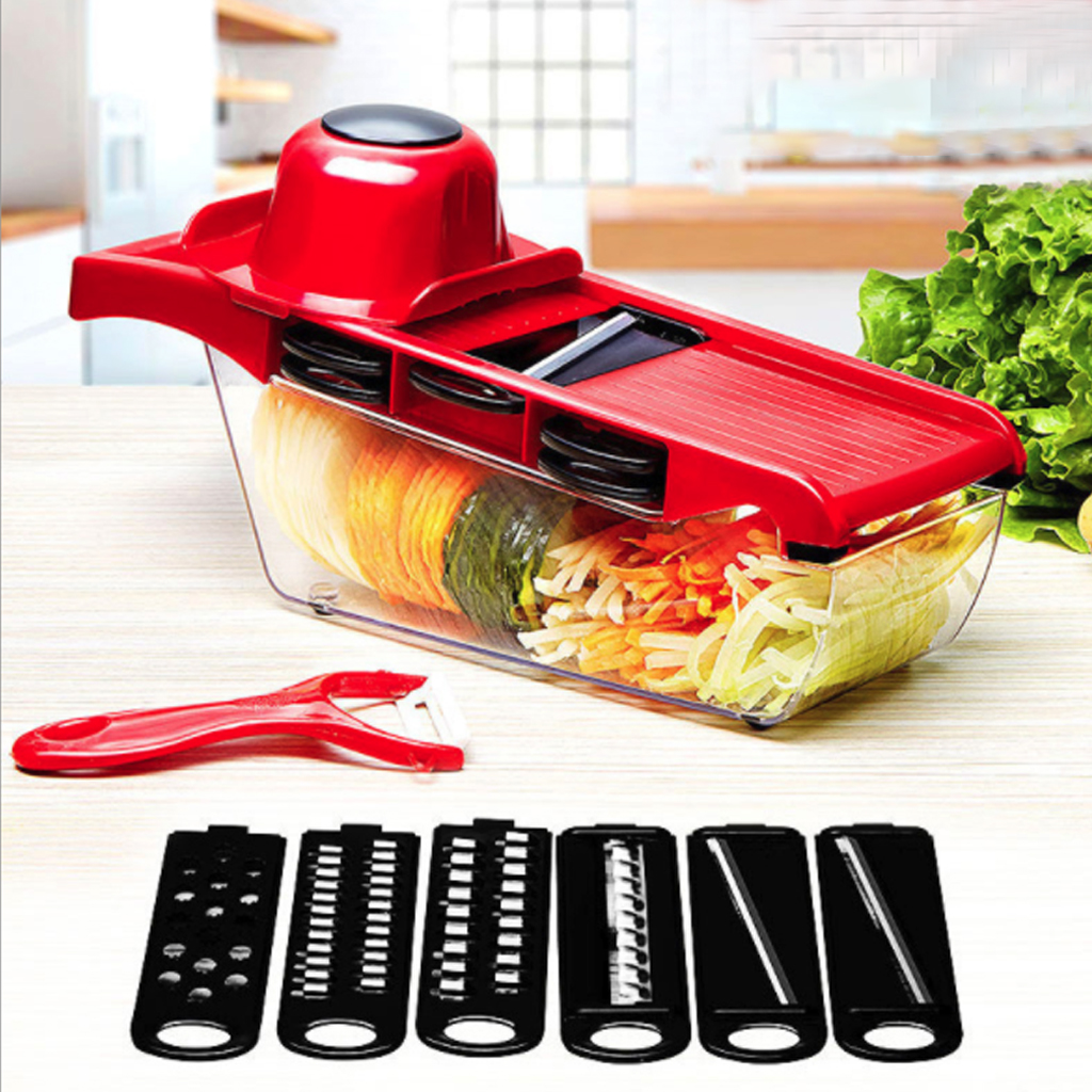 Myvit Vegetable Cutter with Steel Blade Mandoline Slicer Potato Peeler Carrot Cheese Grater vegetable slicer Kitchen Accessories image