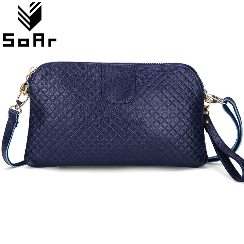 SoAr New Arrival Genuine Leather Women Messenger Bags Handbags Women Famous Brands 2018 New Fashion Hot Sale Clutch Shoulder Bag гарнитура defender warhead g 170 черный 64114
