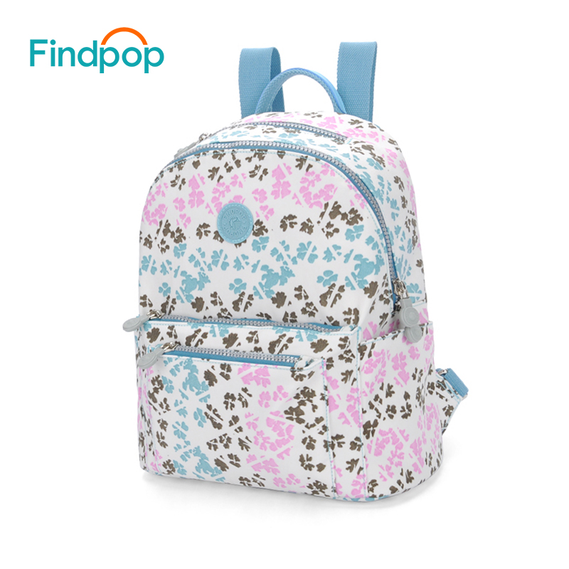 Findpop Floral Printing Backpack Women School Backpack Canvas Bags For Girl 2018 New Anti theft Waterproof