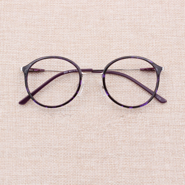9280d601f34 Retro Round Eye Glasses Frame For Men Women Tr90 Frames Eyeglasses Myopia Eyewear  Spectacles Rimless Optical