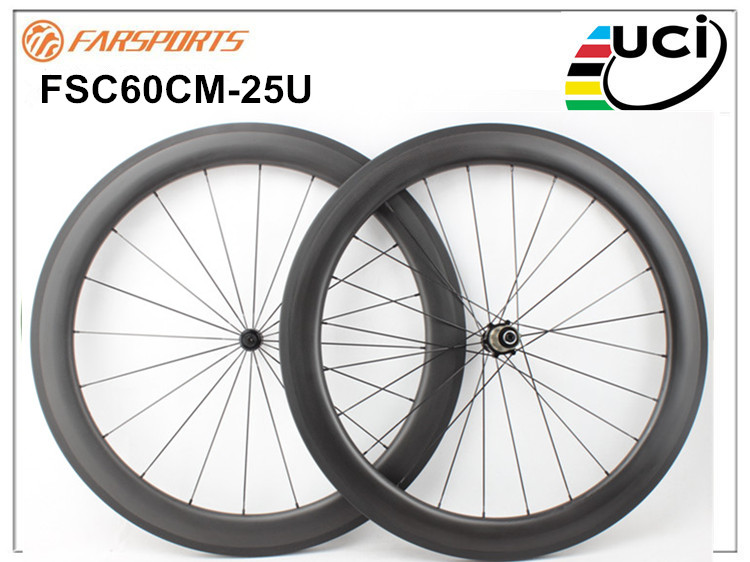 60mm clincher carbon fiber rim,700C high quality and good reputation 25mm width