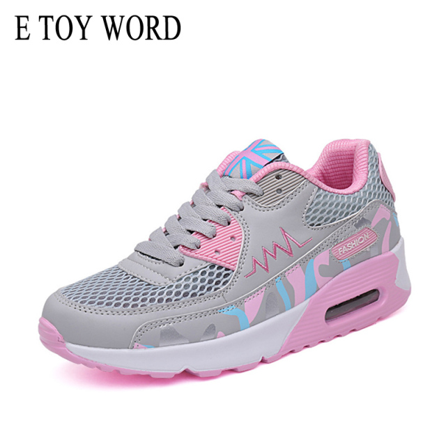 E TOY WORD women platform shoes Autumn Summer Breathable Mesh Brand Shoes for Woman pink sneakers deportivas plataforma mujer