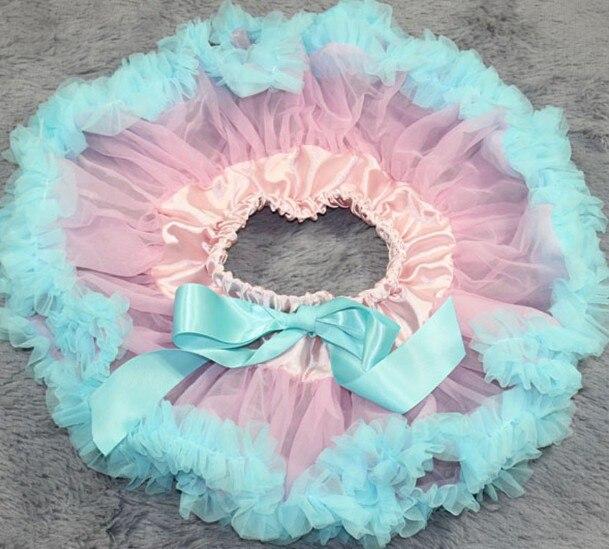Детские юбки розового цвета на заказ; летняя юбка-пачка; Одежда для новорожденных; юбки-пачки для малышей - Цвет: Небесно-голубой