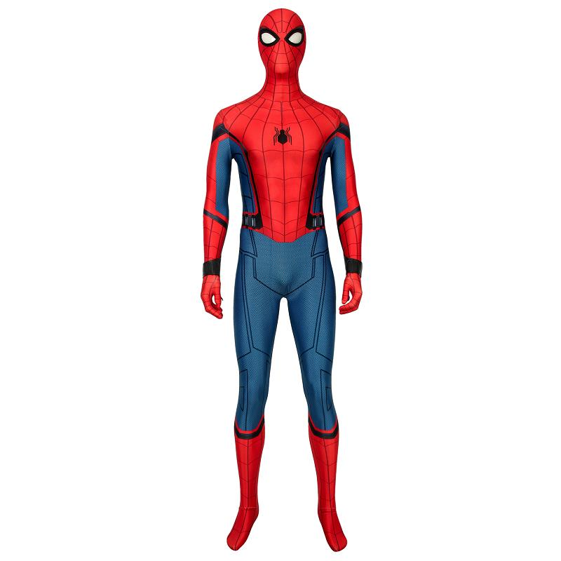 Spider-Man Far From Home Costume Spiderman Peter Parker Cosplay Jumpsuit Superhero Bodysuit Zentai Adult Men Halloween Outfit