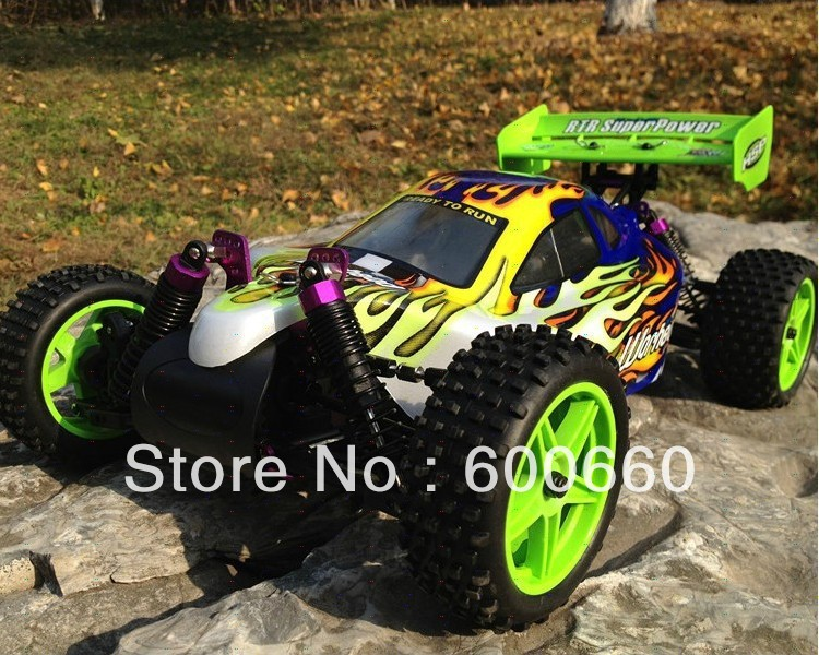 Free Shipping HSP 1/10 2.4G RTR 4WD Scale nitro Off Road Buggy-Pivot Ball Suspension + FS GT2 radio set (Model 94166) hsp bajer 5b 1 5th 2wd rtr 26cc engine gasoline off road buggy 94054