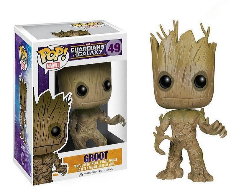 With Original Box 12cm 1pcs Groot Tree Man Funko Pop Guardians of the Galaxy Action Figure PVC Collection Toys Gift for Kid new funko pop guardians of the galaxy tree people groot