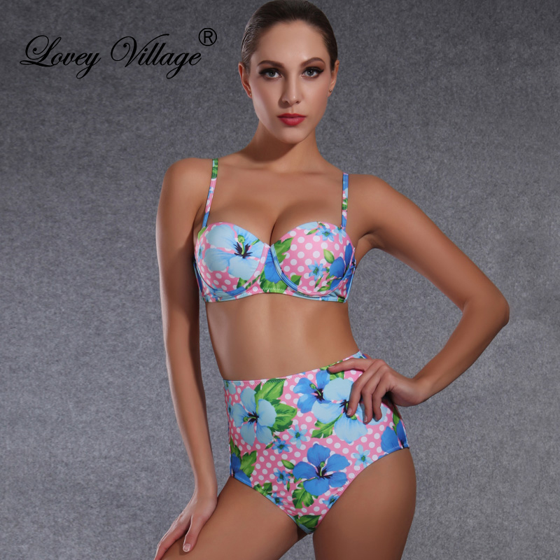 Love It SWIM(PINK/SWIM-SALE) Studded Strappy High Waist Bikini Quick View Quick View.
