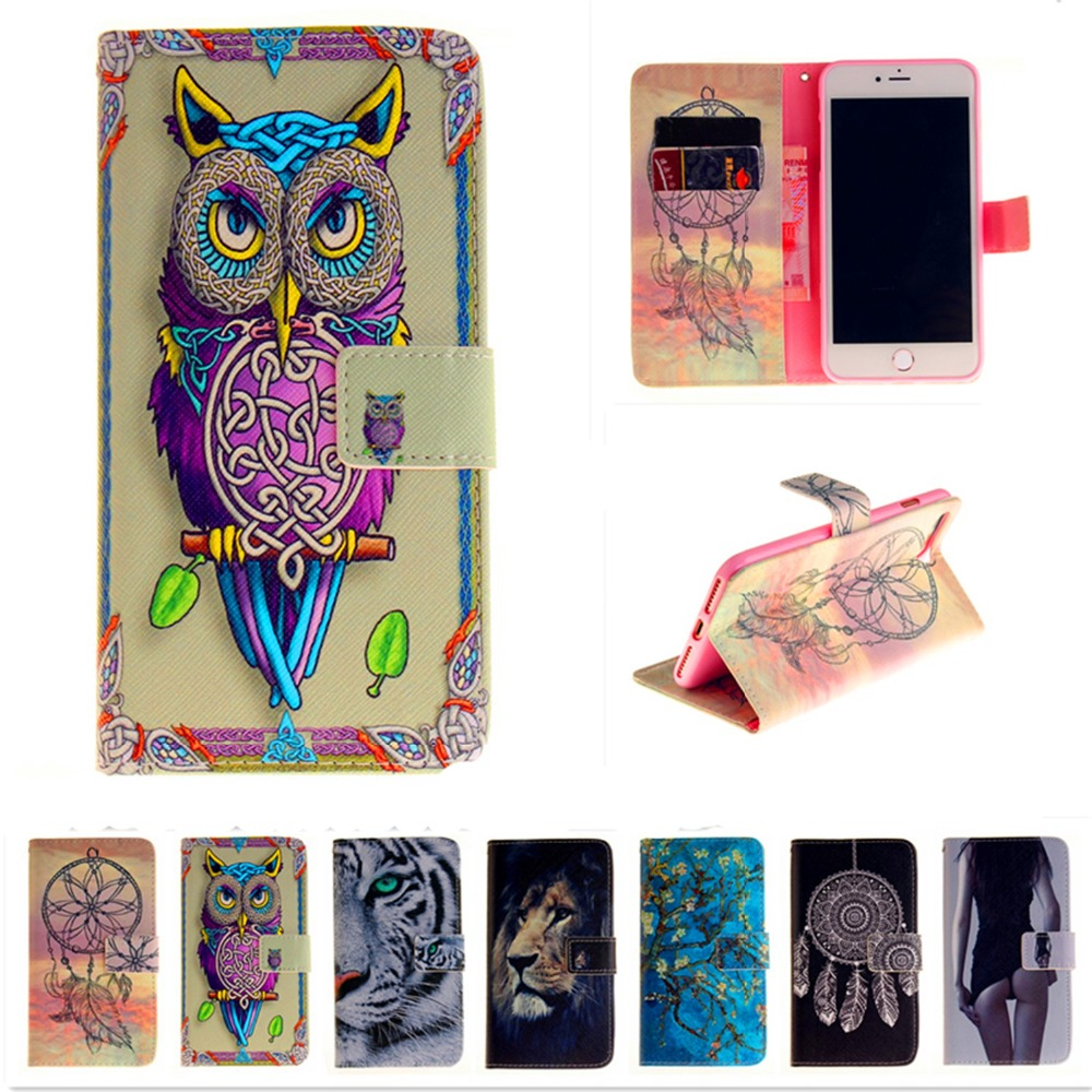 The color of painting For Apple iPhone7 Luxury Wallet Leather Case Stand Flip Card Hold Phone Cover Bags For iPhone7 plus touch5
