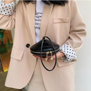 Image 5 - Fashion Circular PU Leather Handbag Small Round bag 2019 Circle Bags Small Purses and Handbags Brand Phone Bag Party Clutch