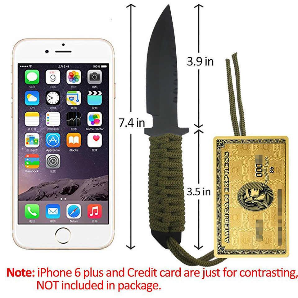 7.5 Inç kamp bıçağı Savaş Taktik Bıçak hayatta kalma bıçağı av bıçağı Naylon Kılıf ile Sabit Bıçak