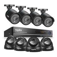SANNCE 8CH CCTV Camera System AHD CCTV DVR 8PCS 1 0 MP IR Outdoor Security Camera
