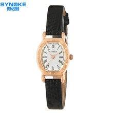 Números Romanos de Las Mujeres Relojes de Regalo De Moda Elegante Reloj de Señoras Correa de Cuero Reloj de Lujo Tag Marca Reloj de Vestir de Oro Pulsera