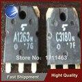 Frete Grátis 10 PCS de áudio Usado tubo par A1263N C3180N 2SA1263N 2SC3180N 5/pair YF0913