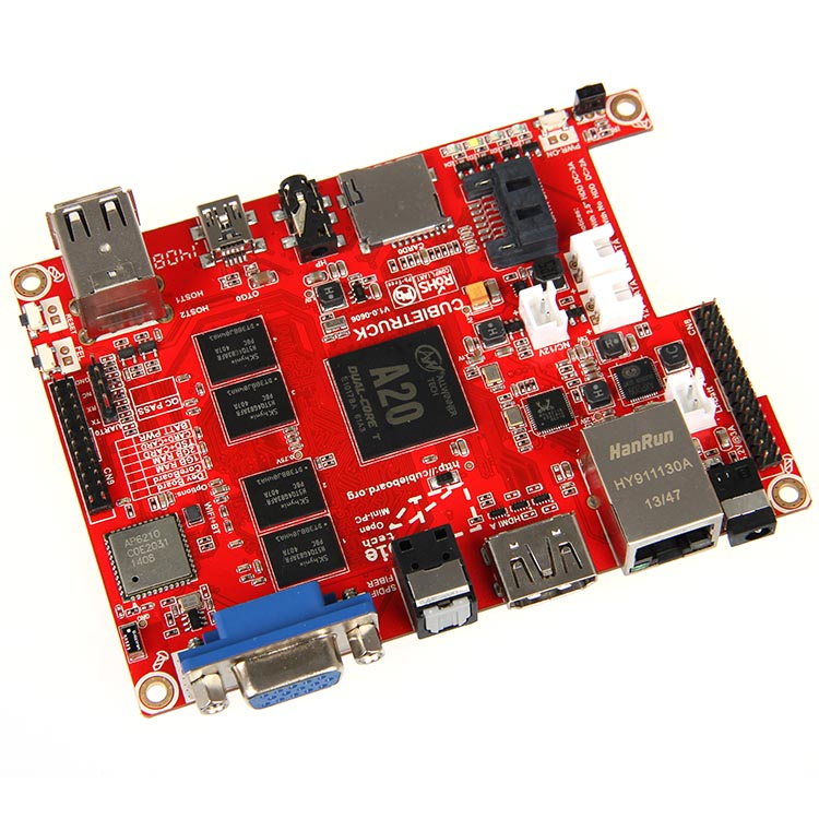 Free Shipping   Cubieboard3 Dual-core A20 Cubietruck Base Package Development Board
