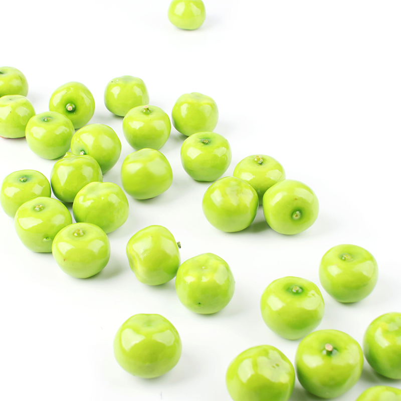 Aliexpress Com Buy Home 30pcs Pack Tiny Small Fake Green Mini Apples Plastic Artificial Fruit House Party Kitchen Decor 2 7 2 6cm 41053 From Reliable