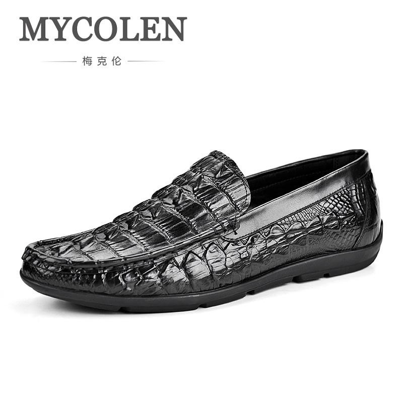 MYCOLEN Hot Sale 2018 Spring Autumn British Style Luxury Brand Men Leather Shoes Business Classic Casual Men Shoes Scarpe hot sale new oxford shoes for men fashion men leather shoes spring autumn men casual flat patent leather men shoes size 46