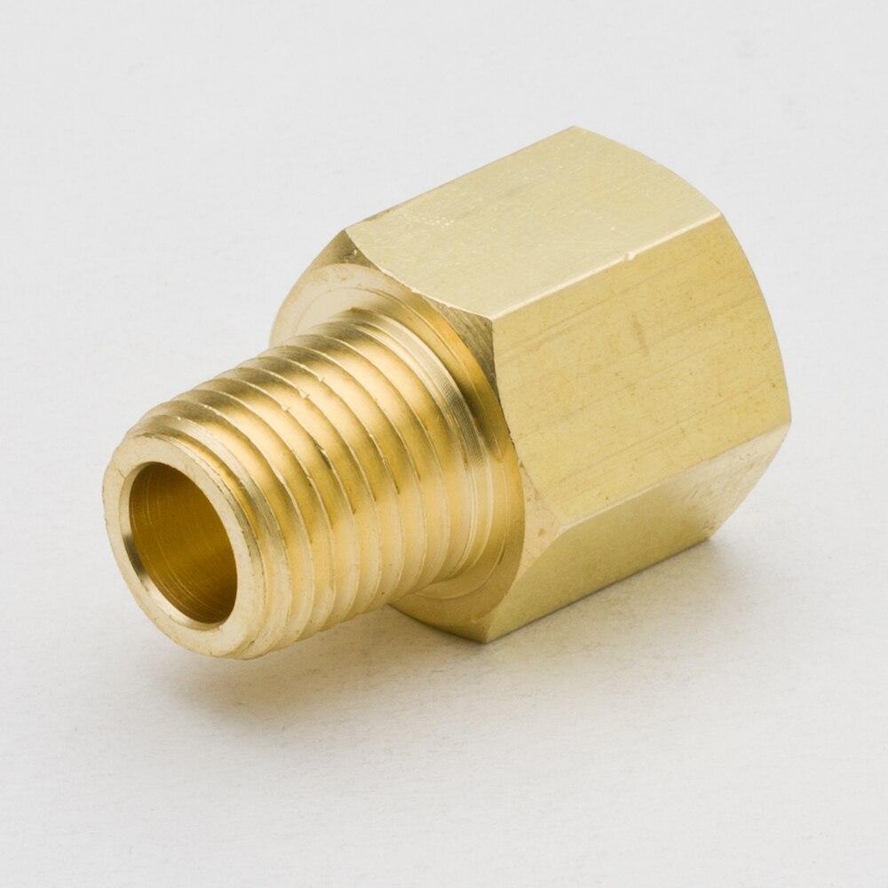 Pacote de 2 adaptador de encaixe de tubulação de bronze 1/8