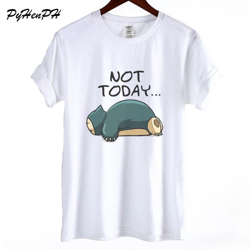 new-font-b-pokemon-b-font-t-shirt-women-funny-snorlax-not-today-print-short-sleeve-t-shirt-women-cool-summer-cotton-tshirt-female-blusa