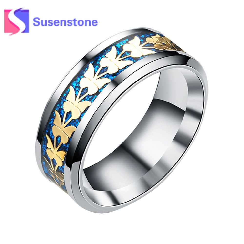 c2418239cd Detail Feedback Questions about 2018 New Couple Rings Women Men Engagement Rings  Fashion Butterfly Silver Alloy Rings for Men Jewelry Gifts Wholesale Size 6  ...